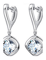 Fine S925 Silver AAA Zircon Drop  Earrings