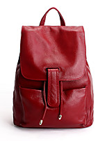 Women Cowhide Casual Backpack Blue / Red / Black