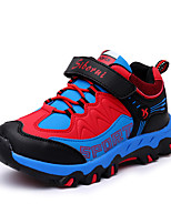 Boy's Athletic Shoes Spring Summer Fall Winter Comfort Leatherette Outdoor Casual Athletic Flat Heel Buckle Black Red Royal Blue Hiking