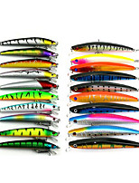 20 pcs Lure Packs Multicolored 8.5G;11.2G g Ounce,9.5 CM:11.5CM mm inch,Soft Plastic Sea Fishing