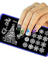 1pc natal diy imagem Selo de placa stamper modelo manicure arte carimbar transferência de impressão ferramenta