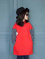 Girl's Casual/Daily Striped Hoodie & SweatshirtCotton Winter / Spring / Fall Green / Red