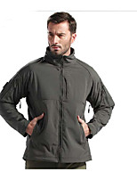 Hiking Softshell Jacket Men's Waterproof / Breathable / Thermal / Warm / Windproof  / Summer / Fall/Autumn TeryleneGray