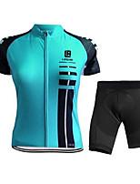 Спорт Велокофты и велошорты Жен. / Муж. Короткие рукава ВелоспортДышащий / Быстровысыхающий / Анатомический дизайн / Ультрафиолетовая