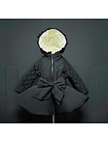 Piumino e giubbino di cotone Girl Casual Tinta unita Cotone Inverno Nero