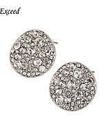 Shiny Round Shape Crystal Mosaic With Silver Plating Alloy Stud Earring  for Women