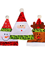 3PCS/lot Christmas Hats Caps High Quality Gorro Soft Plush Adult Children Snowman Santa Claus Deer Cap Christmas Hat