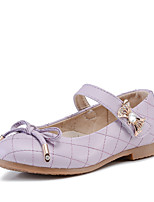 Girl's Flats Comfort Leather Casual Black Blue Pink Purple