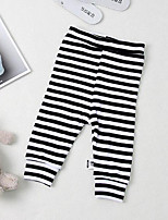 Baby Casual/Daily Striped Pants,Cotton Winter Black