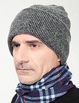 Для мужчин Для мужчин Винтаж / Для офиса / На каждый день Вязаная шапочка,Трикотаж,осень / Зима