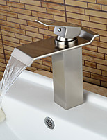 Contemporary / Art Deco/Retro / Modern Centerset Waterfall / Widespread /