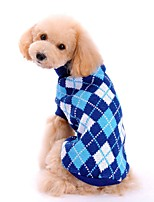 Winter Diamond Pattern Sweater Dogs Clothes for Pets Puppy Dogs (Assorted Sizes and Colours)