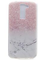 Для Прозрачный С узором Кейс для Задняя крышка Кейс для Мрамор Мягкий TPU для LG LG K10 LG K8 LG K7 LG Nexus 5X LG X Power