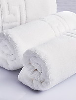Ensemble de serviette de bain Blanc,Jacquard Haute qualité 100% Coton Serviette