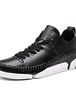 Черный / Белый-Женский-Для офиса / На каждый день-Кожа-На плоской подошве-Модная обувь-На плокой подошве