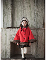 Girl's Casual/Daily Solid Suit & BlazerCotton Winter Brown / Red