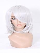 последние стили нет недостатков D.Gray человек шестигранный ходок серебристо-серый короткий прямой человек косплей парик