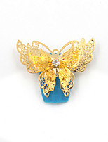 Nail Art Act The Role Ofing Is Tasted Exaggerated Costly Hollow Out Super Flash Butterfly  2Pcs