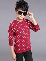 Boy's Casual/Daily Polka Dot Tee,Cotton Winter / Spring / Fall Blue / Red