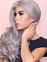 Fashion 171#Gray Body Wave Stlye Wigs for Balck Women or Cosplay Natural Looking Synthetic Wigs Heat Resistant