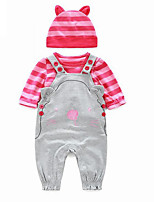 Baby Casual/Daily Solid Clothing Set-Cotton-Spring / Fall-Pink