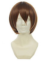 Принц тенниса Фудзи syusuke коричневый короткий прямой парик Cosplay