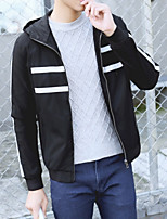 Slim new winter hooded jacket teen Port wind chest mesh jacket casual jacket