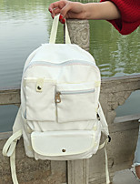 Women Canvas Casual Backpack White / Pink / Black