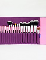 19 Makeup Brushes Set Synthetic Hair Wood Eye / Lip ENERGY