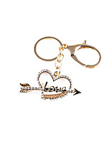 Car Love Key Ring (Note KC Gold)
