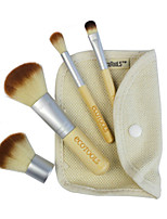 4 Makeup Brushes Set Goat Hair / Synthetic Hair Professional / Portable Wood Face / Eye / Lip