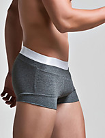 Men Solid Shaping Panties Boxer Briefs,Cotton