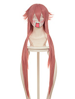 Future Diary Gasai Yuno Long Pink Straight Halloween Wigs Synthetic Wigs Costume Wigs
