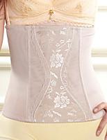 Serre Taille Vêtement de nuit Femme,Sexy Jacquard-Mince Nylon Beige Aux femmes