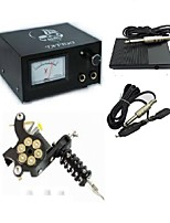 Professional Pointer Instrument Tattoo Power With Plug Cord Foot Switch One Machine