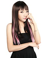 Neitsi 18'' 5Pcs Clip in on Synthetic Hair Extensions Colourful Highlight Straight  Streaks