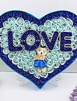 Saint Valentin Faveurs et cadeaux de fête-1Pièce/Set Cadeaux Pétales Matériel écologique Thème classique Forme de Coeur PersonnaliséRose