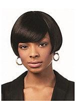 Natural Short Black Wig Fashion Straight Synthetic Wigs