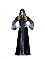 Cosplay Costumes Wizard/Witch Movie Cosplay Black Solid Dress / Shawl Halloween / Carnival Female Polyester