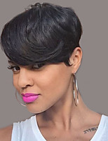 Natural Wavy  Short Human Hair Wigs For Black Woman