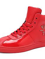 Для мужчин Туфли на шнуровке Удобная обувь Весна Лето Дерматин Повседневные Белый Черный Красный На плоской подошве