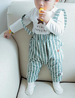 Baby Casual/Daily Striped Clothing Set-Cotton-Spring / Fall-Green / Gray