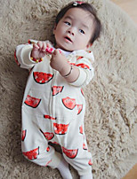 Baby Casual/Daily Solid Clothing Set-Cotton-Spring-Red