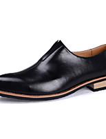 Черный Желтый Красный-Мужской-Повседневный-Полиуретан-На плоской подошве-Удобная обувь-Мокасины и Свитер