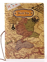 World map three-dimensional  fashion Passport Holder & ID Holder Waterproof / Dust Proof / Portable Travel Storage PU Leather