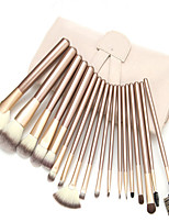 18(pcs) Makeup Brushes Set Professional Blush/Powder/Foundation/Concealer Brush Shadow/Eyeliner Brush With White Bag
