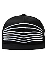 Unisex Casual Mask Striped Printing Cotton Flat Hip-Hop Street Baseball Sun Cap