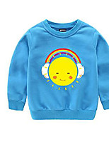 Boy's Casual/Daily Solid Hoodie & SweatshirtCotton Spring / Fall Blue / Pink / White / Yellow