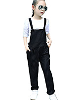 Girl's Fashion Wild Casual/Daily Striped Strap Pants
