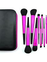 11 Conjuntos de pincel Escova de Cabelo de Cabra Profissional / Portátil Metal Rosto / Olhos / Lábio Outros